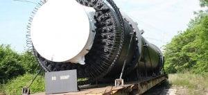 dryer on a rail car