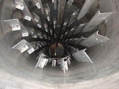 inside rotary dryer Louisville Dryer Company